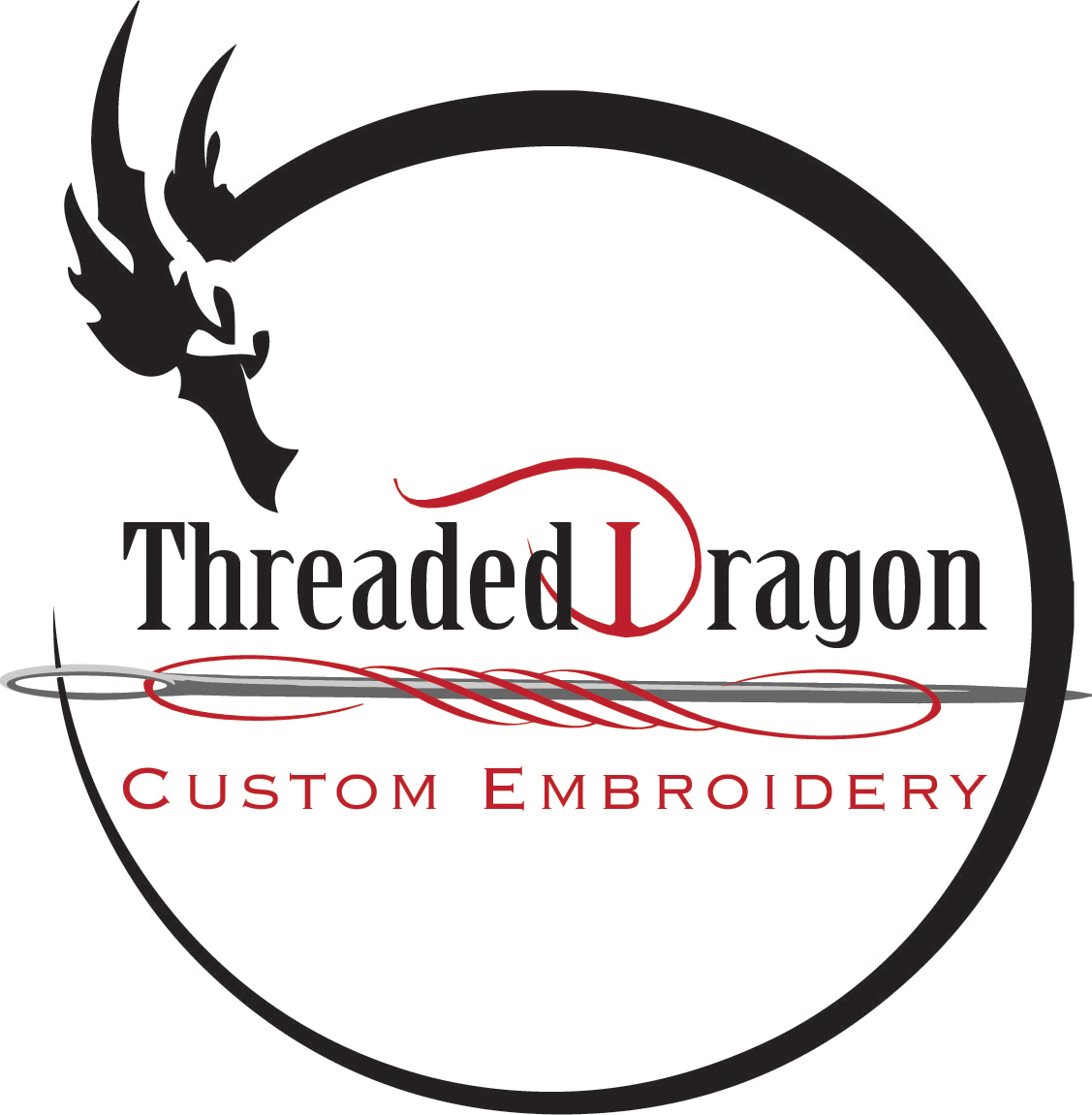 Threaded Dragon Custom Embroidery